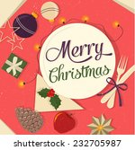 christmas design  | Shutterstock .eps vector #232705987