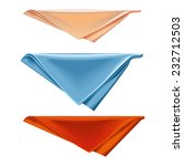 napkin folded triangle on a... | Shutterstock .eps vector #232712503