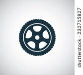 car wheel icon on white...