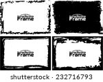 grunge frame set texture  ... | Shutterstock .eps vector #232716793