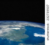 great britain from space with...   Shutterstock . vector #232735537
