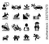 insurance icons set. vector... | Shutterstock .eps vector #232737673