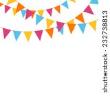 multicolored bright buntings... | Shutterstock .eps vector #232738813