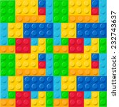 childhood blocks pattern vector | Shutterstock .eps vector #232743637