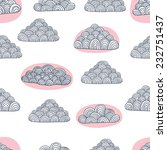 hand drawn doodle clouds... | Shutterstock .eps vector #232751437