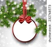 christmas paper card. winter...   Shutterstock .eps vector #232768573