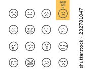 smiley faces icons. vector... | Shutterstock .eps vector #232781047