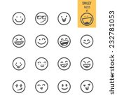 Smiley Faces Icons. Vector...
