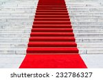 Постер, плакат: Red carpet on staircase