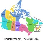 detailed vector map of canada  | Shutterstock .eps vector #232801003