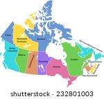 detailed vector map of canada  | Shutterstock .eps vector #232801003