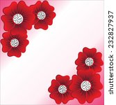 red flower on white background | Shutterstock .eps vector #232827937