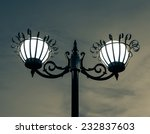 old electric lamp with night... | Shutterstock . vector #232837603