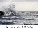 Sea Scene With Waves Crashing...