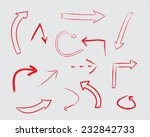 red arrow set.hand drawn arrows.... | Shutterstock .eps vector #232842733