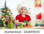 Child Girl Making Christmas...