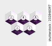 abstract hexagon infographics... | Shutterstock .eps vector #232848397