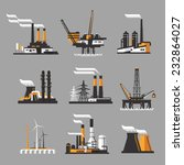 industrial factory icons on... | Shutterstock .eps vector #232864027