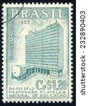 brazil   circa 1953  stamp... | Shutterstock . vector #232890403