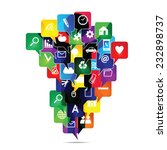 colorful social media icons in... | Shutterstock . vector #232898737
