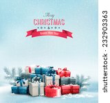 holiday christmas background... | Shutterstock .eps vector #232903363