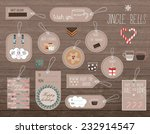 set of flat winter holidays and ...   Shutterstock .eps vector #232914547