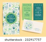 design set with yogic quotes... | Shutterstock .eps vector #232917757