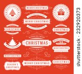 christmas decoration vector... | Shutterstock .eps vector #232920373