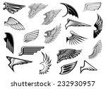 heraldic vintage birds and... | Shutterstock .eps vector #232930957