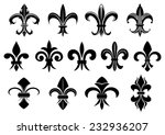 black royal fleur de lis...   Shutterstock .eps vector #232936207