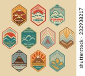 set of retro colored alpinist... | Shutterstock .eps vector #232938217