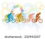 group of cyclist in the bicycle ... | Shutterstock .eps vector #232941037