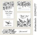 set of invitation cards with... | Shutterstock .eps vector #232941277