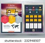 vector business flyer template. ... | Shutterstock .eps vector #232948507