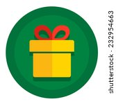 vector christmas icon flat with ... | Shutterstock .eps vector #232954663