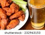 buffalo wings with celery... | Shutterstock . vector #232963153