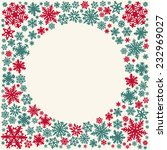 christmas snowflakes vector... | Shutterstock .eps vector #232969027