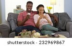 happy young black couple... | Shutterstock . vector #232969867