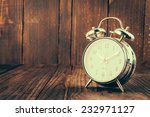 clock on wood background  ... | Shutterstock . vector #232971127