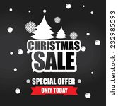 christmas sale inscription with ... | Shutterstock . vector #232985593
