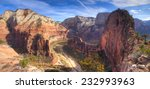 view of zion canyon from angels ... | Shutterstock . vector #232993963