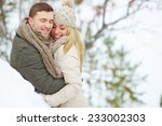 young man embracing his... | Shutterstock . vector #233002303