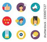 social media marketing icons... | Shutterstock .eps vector #233007127