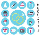 wedding icons made in flat... | Shutterstock .eps vector #233008927