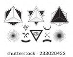 set of c  abstract geometrics ... | Shutterstock .eps vector #233020423