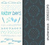 rainy days seamless pattern and ... | Shutterstock .eps vector #233022193