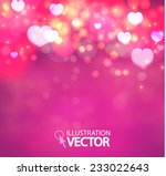 shining heart bokeh background. ... | Shutterstock .eps vector #233022643