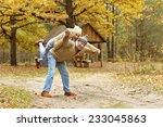 happy senior couple having fun... | Shutterstock . vector #233045863