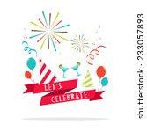 vector   let's celebrate banner ... | Shutterstock .eps vector #233057893
