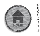 home icon isolated on white | Shutterstock .eps vector #233065723
